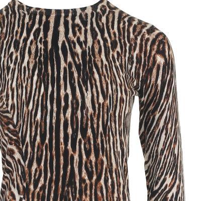 leopard pattern flare dress multi